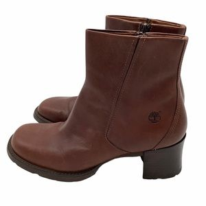 Timberland Alyse Cognac Leather Comfort Boots 8.5